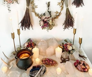 altar, candles, and cauldron image