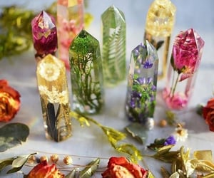 crystal and flowers image