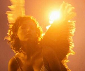 angel, aesthetic, and yellow image