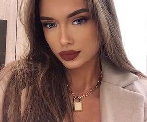 girl, blue eyes, and model image