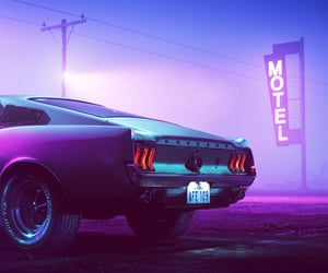 car and motel image