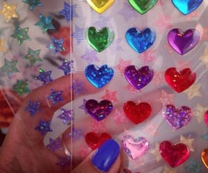 heart, rainbow, and sticker image