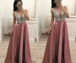 prom dress, evening gowns, and prom gown image