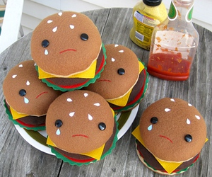cute, burger, and food image