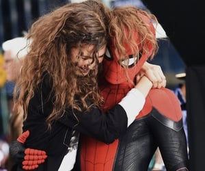 zendaya, tom holland, and Marvel image