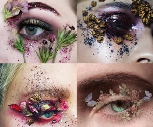 flower, makeup, and cute image