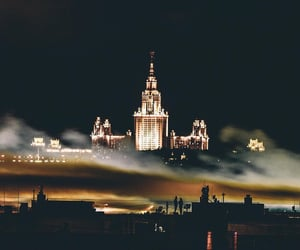 city, moscow, and night image