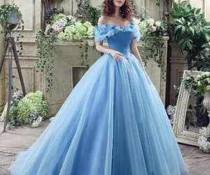 dress, gown, and blue image