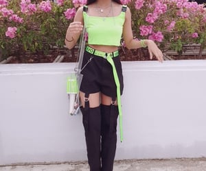 fashion inspiration, neon green, and wardrobe image