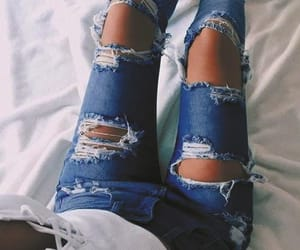 edgy, fashion, and diy jeans image