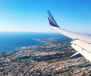 city, flight, and Greece image