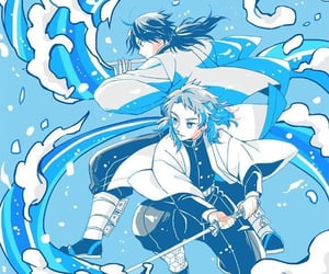 blue, water, and anime boy image