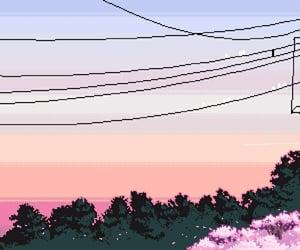 pixel, sky, and art image