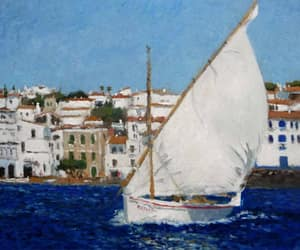 cadaques, sailboat, and spanish artist image