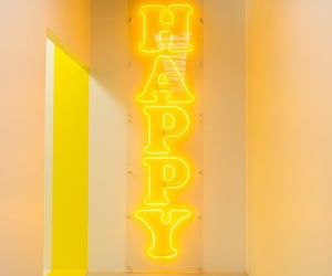 yellow, happy, and neon image