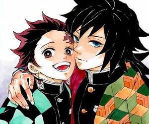 anime boy and kimetsu no yaiba image