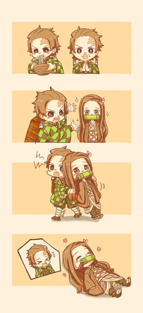 anime girl, anime boy, and kimetsu no yaiba image