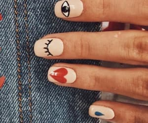 acrylics, manicure, and vintage image