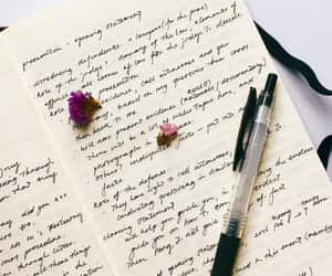 aesthetic, flowers, and pen image
