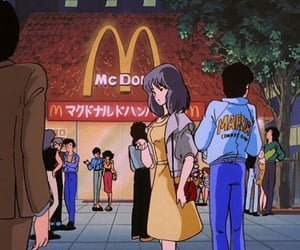 anime, aesthetic, and McDonalds image