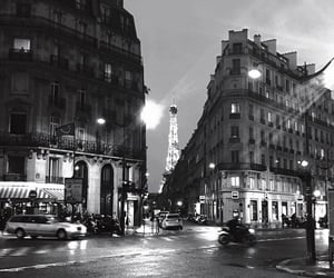 paris, black and white, and city image