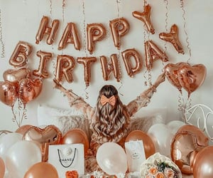 decorations, happy birthday, and follow me image