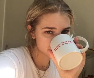 girl, aesthetic, and blonde image