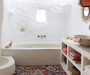 bathroom, ibiza, and vacation image
