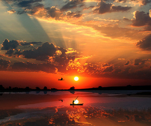 sunset, sun, and photography image