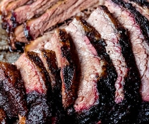 bbq, food, and meat image