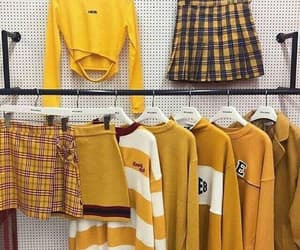 fashion, yellow, and alternative image