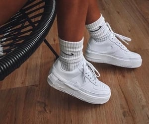 nike, white, and sneakers image
