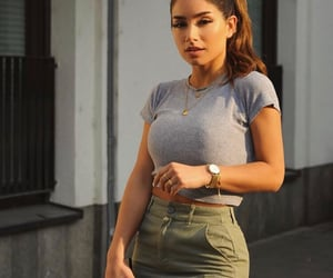 girl, outfit, and crop top image