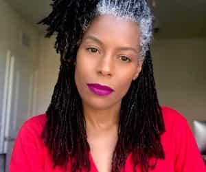 dreads, gray hair, and hairstyles image
