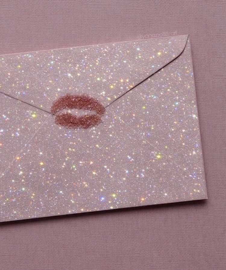glitter, aesthetic, and kiss image