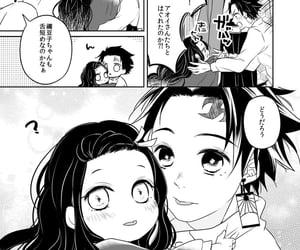 anime girl, demon slayer, and child image
