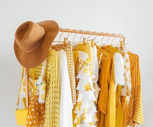 yellow, fashion, and hat image