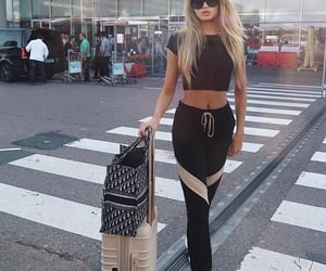 airport, travel, and romee strijd image