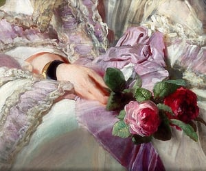 art, roses, and vintage image