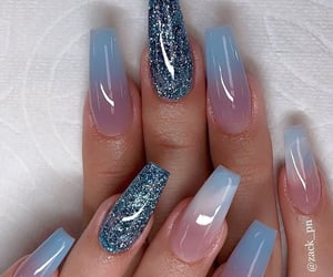 blue, nails, and sparkle image