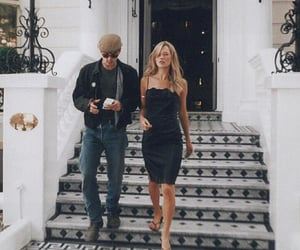 couple, kate moss, and model image