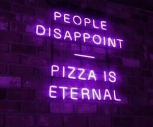quotes, neon, and pizza image