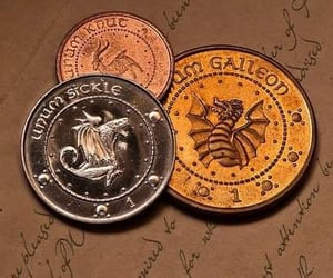 coins, harry potter, and sickle image
