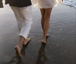 couple, ocean, and beach image