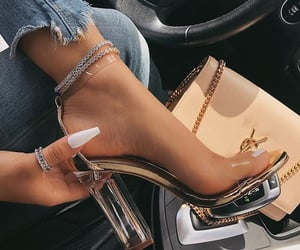 accessories, glamour, and stilettos image