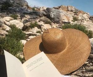 beach, books, and fashion image