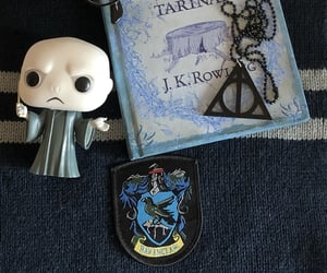 book, deathly hallows, and bookworm image