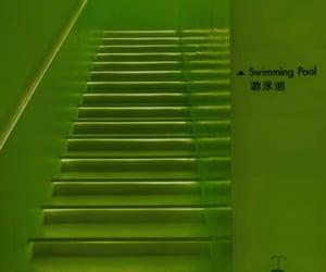 dark, green, and neon green image