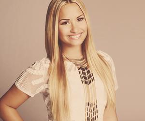 demi lovato, blonde, and smile image