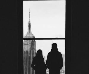 black and white and windows image